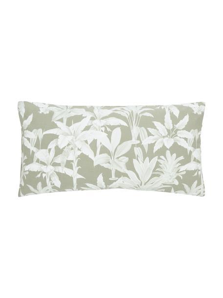 Baumwoll-Kissenbezüge Shanida in Grün/Cremeweiß, 2 Stück, Webart: Renforcé Fadendichte 144 , Grün, 40 x 80 cm