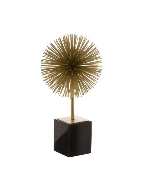Decoratief object Marball, Object: metaal, Voet: marmer, Onderzijde: vilt, Object: goudkleurig. Voet: zwart marmer, H 30 cm