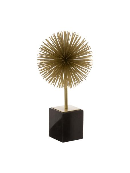Deko-Objekt Marball, Aufsatz: Metall, Fuß: Marmor, Unterseite: Filz, Aufsatz: Goldfarben, Fuß: Schwarzer Marmor, H 30 cm