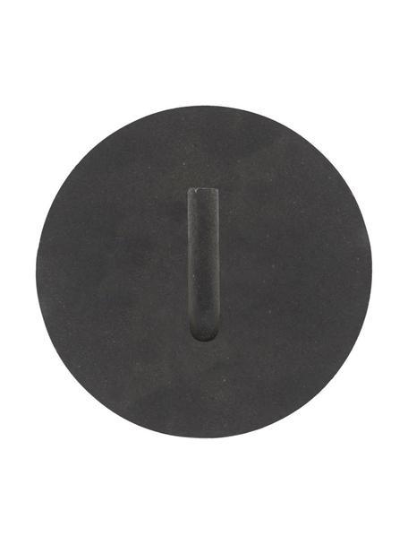 Metalen wc papierhouder Lema, Gecoat aluminium, Zwart, Ø 13 x D 12 cm
