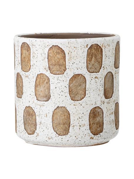 Portavaso in terracotta Avo, Terracotta, Bianco, Ø 12 x Alt. 12 cm