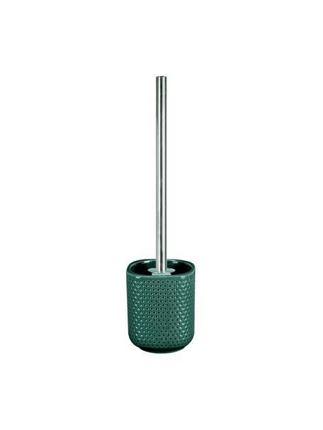 Scopino con contenitore in gres Mila, Verde smeraldo, Ø 10 x Alt. 40 cm
