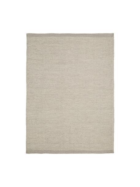 Alfombra kilim artesanal de lana Delight, Gris claro, An 70 x L 140  cm(Tamaño XS)
