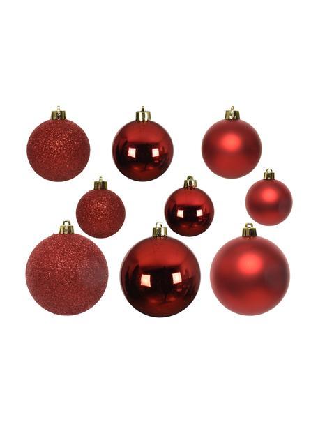 Bruchfestes Weihnachtskugel-Set Mona, 30-tlg., Rot, Set mit verschiedenen Grössen