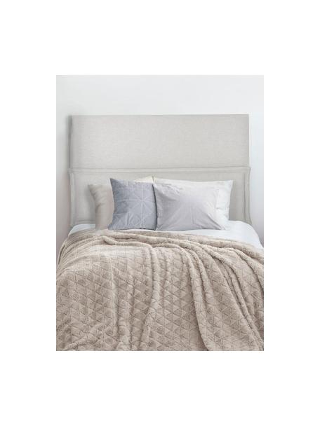 Cabecero Comfort, Estructura: madera de pino, madera co, Blanco crudo, An 100 x Al 80 cm