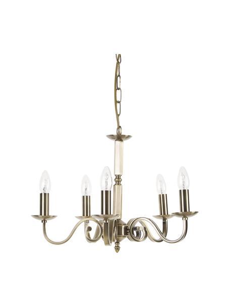 Araña Richmond, estilo vintage, Estructura: acero recubierto, Anclaje: acero recubierto, Cable: plástico, Latón, Ø 52 x Al 56 cm