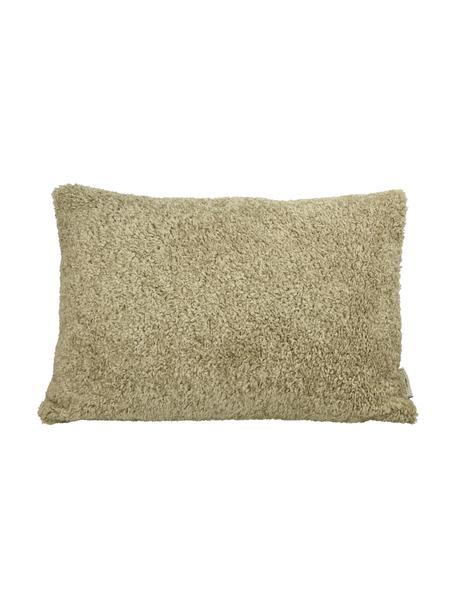 Flauschiges Kissen Teddy in Beige mit Inlett, Bezug: Polyester, Beige, 40 x 60 cm