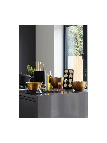 Báscula de cocina Class, Bandeja: acero inoxidable, latón, Latón, negro, Ø 26 x Al 24 cm