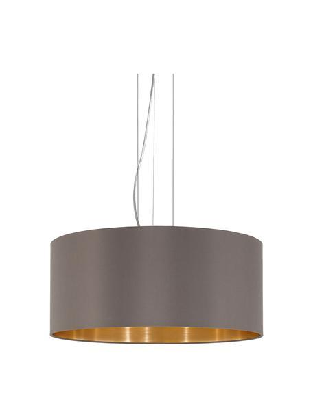 Lámpara de techo Jamie, Fijación: metal niquelado, Cable: plástico, Plateado, gris beige, Ø 53 x Al 24 cm