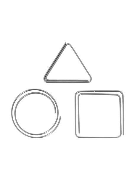Komplet spinaczy do papieru Geometria, 9 szt., Metal lakierowany, Metalowy, S 3 x W 3 cm