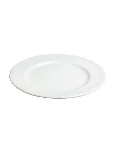 Dinerbord Ouverture van porselein, 6 stuks, Porselein, Wit, Ø 27 cm