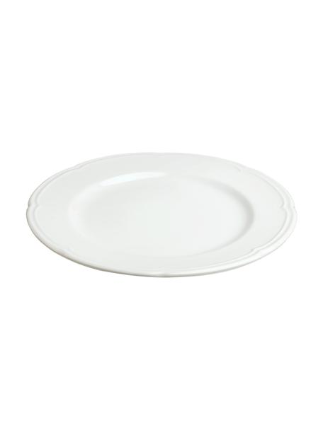 Platos llanos de porcenala Ouverture, 6 uds., Porcelana, Blanco, Ø 27 cm