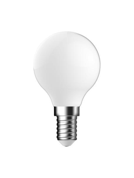 E14 Leuchtmittel, 4.6W, warmweiß, 1 Stück, Leuchtmittelschirm: Glas, Leuchtmittelfassung: Aluminium, Weiß, Ø 5 x H 8 cm
