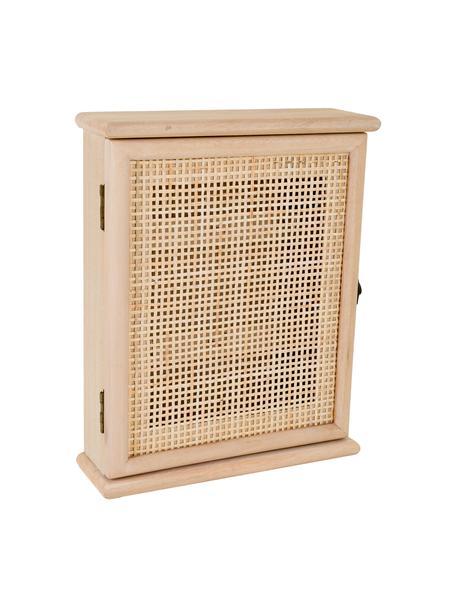 Estante para llaves de madera Cayetana, Tablero de fibras de densidad media (MDF) chapado, Beige, An 25 x Al 31 cm