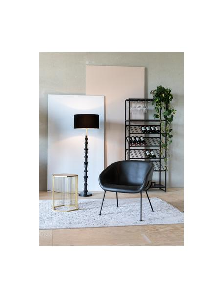 Design Stehlampe Totem, Lampenschirm: Textil, Lampenfuß: Metall, beschichtet, Schwarz, Ø 46 x H 148 cm