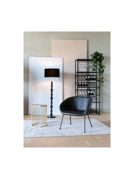 Design vloerlamp Totem, Lampenkap: textiel, Lampvoet: gecoat metaal, Zwart, Ø 46 x H 148 cm