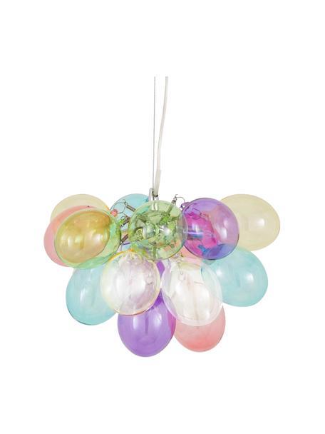 Lámpara de techo de cristal Gross, Fijación: níquel cromado, Anclaje: metal recubierto, Cable: plástico, Multicolor, Ø 30 x Al 28 cm