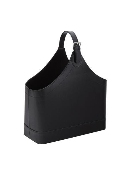 Tijdschriftenhouder Ready, Frame: karton, Sluiting: metaal, Tijdschriftenhouder: zwart Sluiting: metaal, 40 x 45 cm