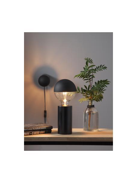 Bombilla regulable E27, 2.8W, blanco cálido, 1ud., Ampolla: vidrio, Casquillo: aluminio, Negro, transparente, Ø 10 x Al 14 cm