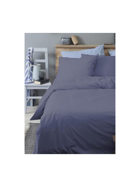 Baumwoll-Bettwäsche Weekend in Dunkelblau, 100% Baumwolle Fadendichte 145 TC, Standard Qualität Bettwäsche aus Baumwolle fühlt sich auf der Haut angenehm weich an, nimmt Feuchtigkeit gut auf und eignet sich für Allergiker., Dunkelblau, 135 x 200 cm + 1 Kissen 80 x 80 cm