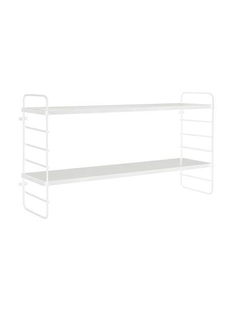 Mała półka ścienna z metalową ramą North, Biały, S 65 x W 35 cm