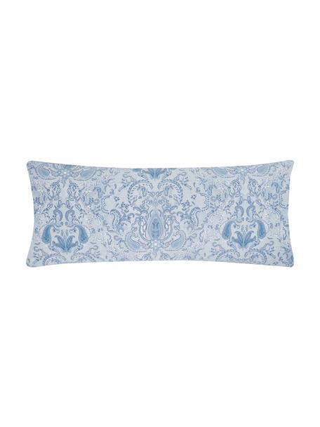 Funda de almohada de satén Grantham, 45x110cm, Azul, An 45 x L 110 cm