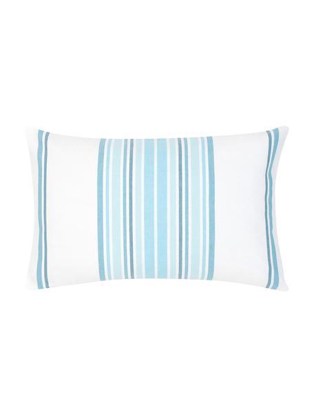 Federa arredo a righe Lin, 100% cotone, Bianco crema, blu, Larg. 30 x Lung. 50 cm