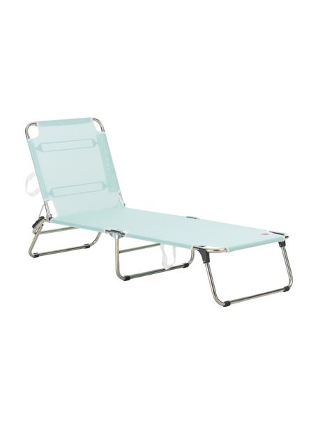 Ligstoel Fiam Amigo zonder armleuning, Frame: aluminium, Bekleding: polyester, Frame: aluminium. Bekleding: aquablauw, 58 x 190 cm