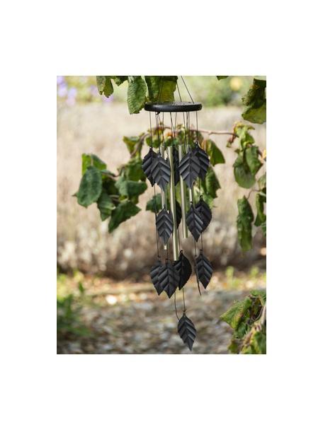 Dekoracja ogrodowa Leaves, Aluminium, metal, drewno naturalne, Czarny, Ø 11 x W 62 cm
