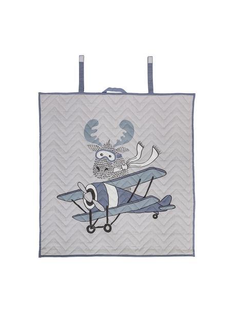 Decke Blanco, Bezug: 100% Baumwolle, Blautöne, Weiss, Schwarz, 100 x 100 cm