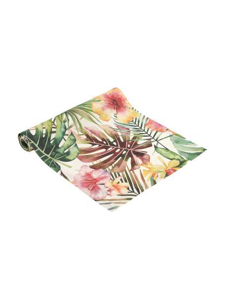 Runner con motivo tropicale Kokamo, 100% poliacrilico, Multicolore, Larg. 40 x Lung. 145 cm