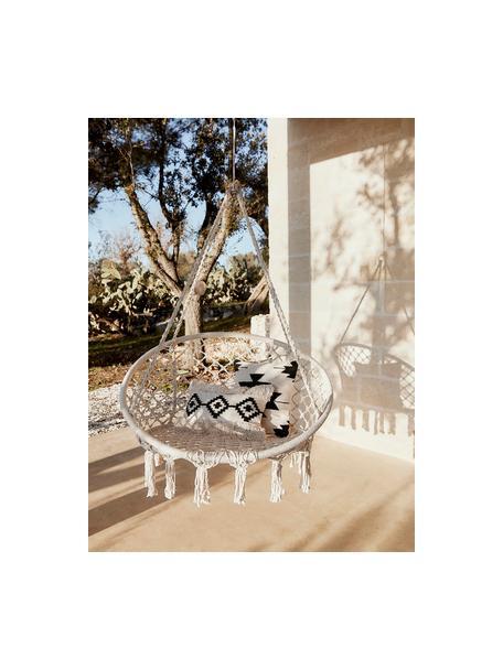 Hängesessel Paradise Now mit Fransen in Creme, Sitzfläche: Baumwolle, Polyester, Gestell: Stahl, beschichtet, Creme, Ø 100 x H 145 cm
