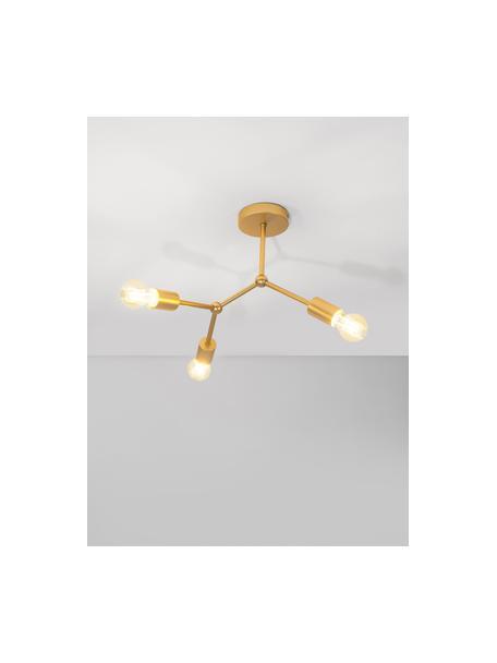 Lampada da soffitto dorata Ilias, Struttura: alluminio rivestito, Baldacchino: alluminio rivestito, Ottonato, Ø 45 x Alt. 45 cm