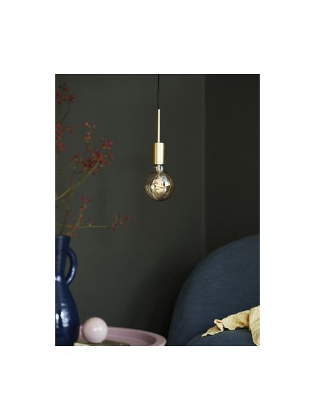 Lámpara de techo pequeña Paco, Anclaje: metal, Cable: plástico, Latón, Ø 4 x Al 17 cm
