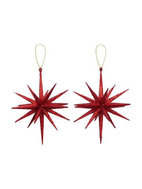 Set 2 ciondoli albero di Natale Tove, Ø15 cm, Rosso, Ø 15 x Alt. 15 cm