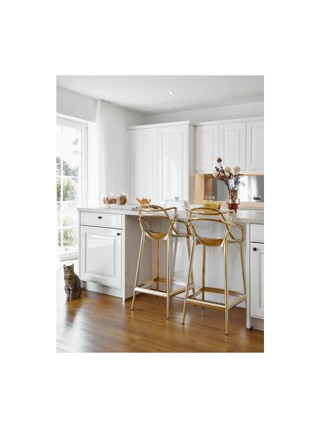 Krzesło kontuarowe Masters, Polipropylen, Odcienie złotego, S 49 x W 99 cm