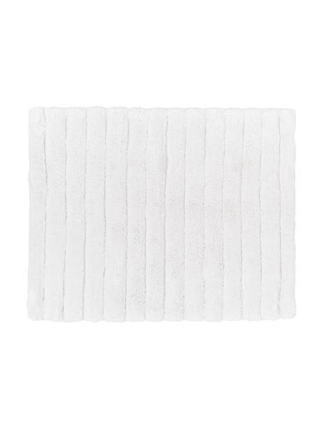 Fluffy badmat Board in wit, 100% katoen, Zware kwaliteit, 1900 g/m², Wit, 50 x 60 cm