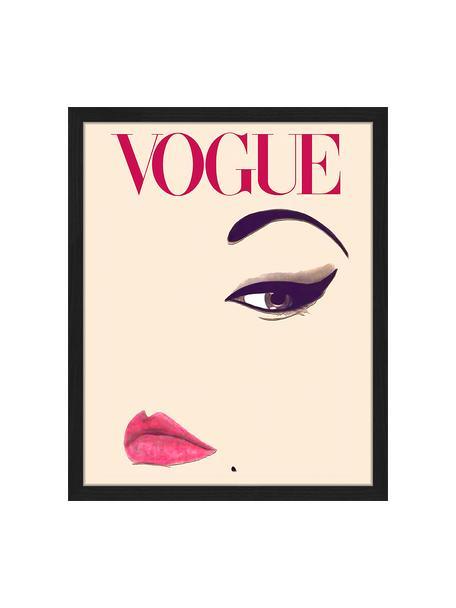 Ingelijste digitale print Oh So LovelyObsessions Vogue, Afbeelding: digitale print op papier,, Lijst: gelakt hout, Multicolour, 43 x 53 cm