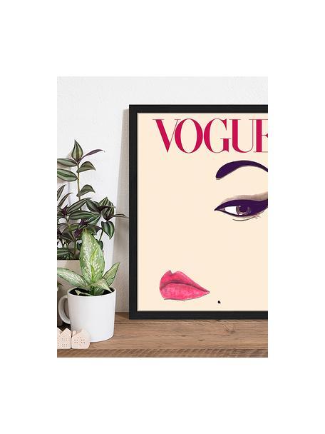 Stampa digitale incorniciata Oh So LovelyObsessions Vogue, Immagine: stampa digitale su carta,, Cornice: legno verniciato, Multicolore, Larg. 43 x Alt. 53 cm