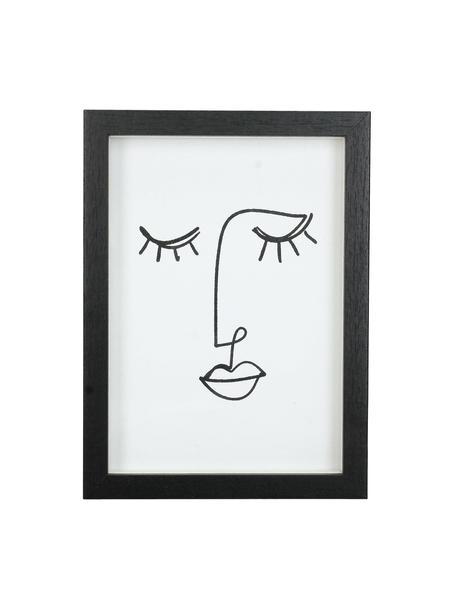Portafoto in legno nero Claybank, Legno rivestito, Nero, 13 x 18 cm