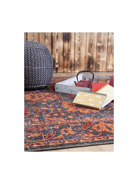 In- & Outdoor-Teppich Tilas in Orange/Grau, Orient Style, 100% Polypropylen, Anthrazit, Orange, Rot, B 120 x L 170 cm (Größe S)