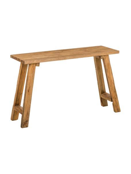 Konsola z recyklingowego drewna Lawas, Naturalne drewno tekowe, Drewno tekowe, S 120 x G 40 cm