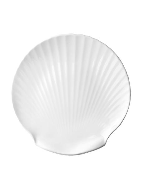 Fine Bone China serveerplateau Shell, Ø 27 cm, Beenderporselein (porselein) Fine Bone China is een zacht porselein, dat zich vooral onderscheidt door zijn briljante, doorschijnende glans., Wit, Ø 27 cm