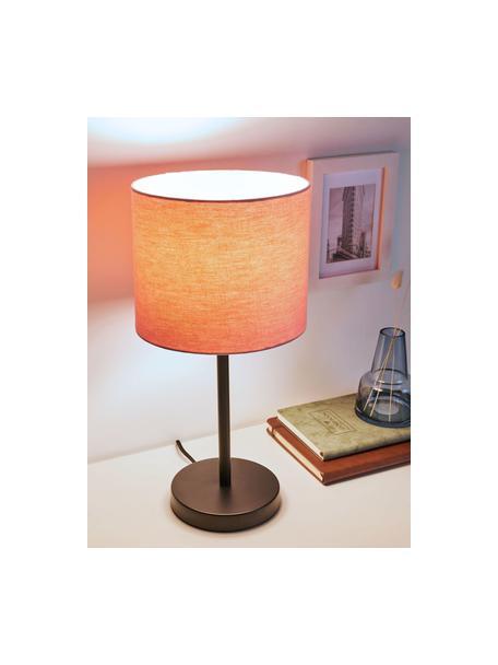 Lampada da comodino rosa Sweet Reverie, Paralume: tessuto, Base della lampada: metallo rivestito, Rosa, nero, Ø 22 x Alt. 45 cm