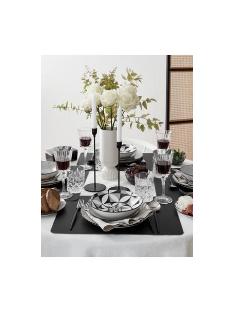 Copas de vino tinto de cristal con relive Timeless, 6uds., Cristal Luxion, Transparente, Ø 9 x Al 21 cm