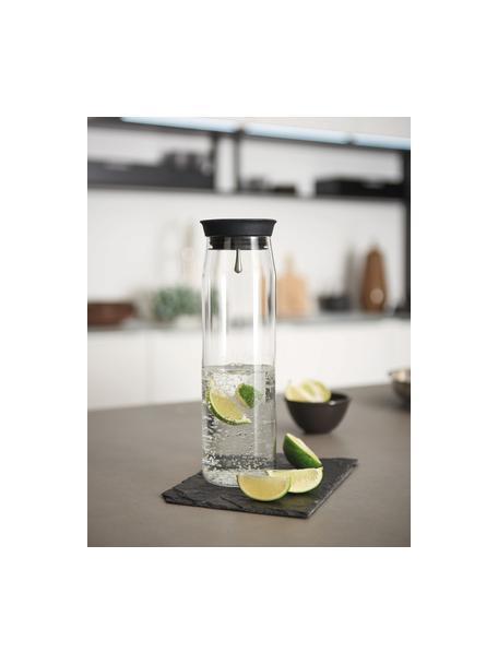 Jarra grande de vidrio con tapón Brioso, 1,1L, Vidrio, silicona, Transparente, Al 28 cm
