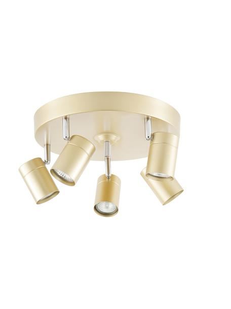 Faretti da soffitto dorati Correct, Paralume: metallo rivestito, Baldacchino: metallo rivestito, Dorato, Ø 30 x Alt. 14 cm
