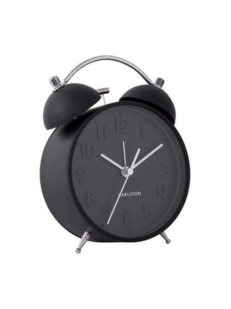 Wekker Iconic, Staal, Zwart, staalkleurig, 11 x 15 cm