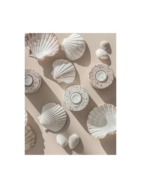 Portalumini fatto a mano Tessina, Pietra, Rosa, multicolore, Ø 9 x Alt. 4 cm