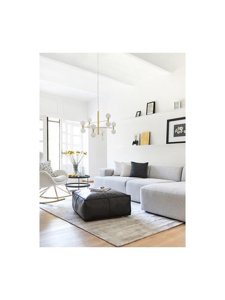 Lámpara de techo grande de cristal Grover, Anclaje: metal, Cable: plástico, Dorado, Ø 70 x Al 56 cm